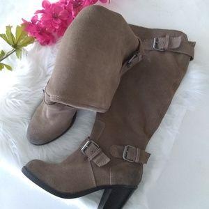 {EUC} Dolce Vita Khaki Suede Leather Boots Size 7